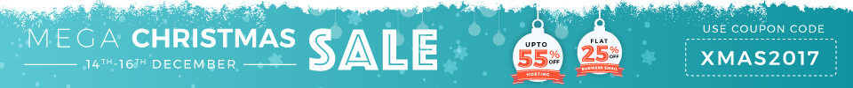 Bigrock Mega christmas sale : Upto 55% off on hosting